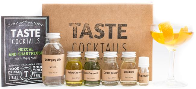 A TASTE cocktails Mezcal & Chartreuse Kit