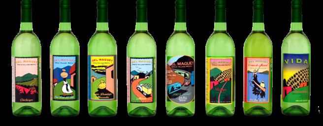 Del Maguey mezcal bottles